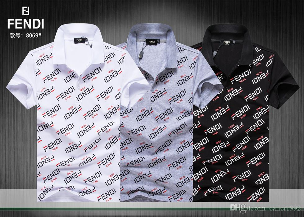 New Summer Famous Brand Boys High-grade Printing Polo Shirt Short Sleeved T-Shirt Lapel shirt Embroidery Men #7800