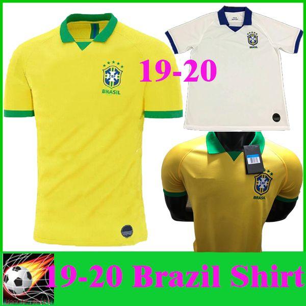 04bbe243d 2019 2019 NEW Brazil Soccer Jerseys 2020 Home Yellow COUTINHO DAVID LUIZ 19  20 Away White Soccer Shirts COSTA JESUS National Team Football Shirt From  ...