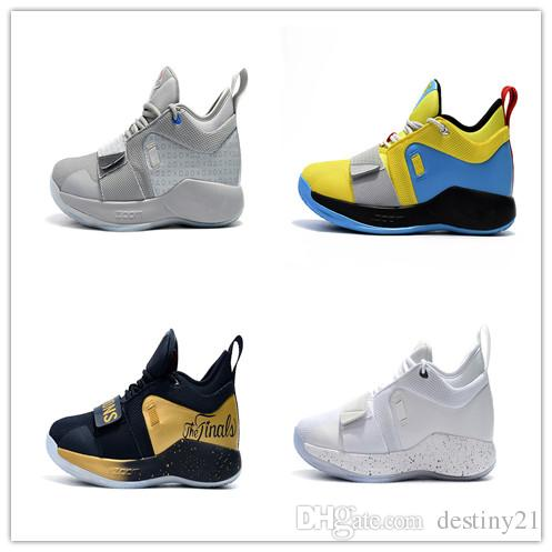 new concept b9118 adf9e 2018 New Hot Sale PG 2.5 basketball shoes White Seven Colors Yellow Moon  Grey Deep Blue Golden Pickled Pepper PG2.5 basketball shoes 40-46