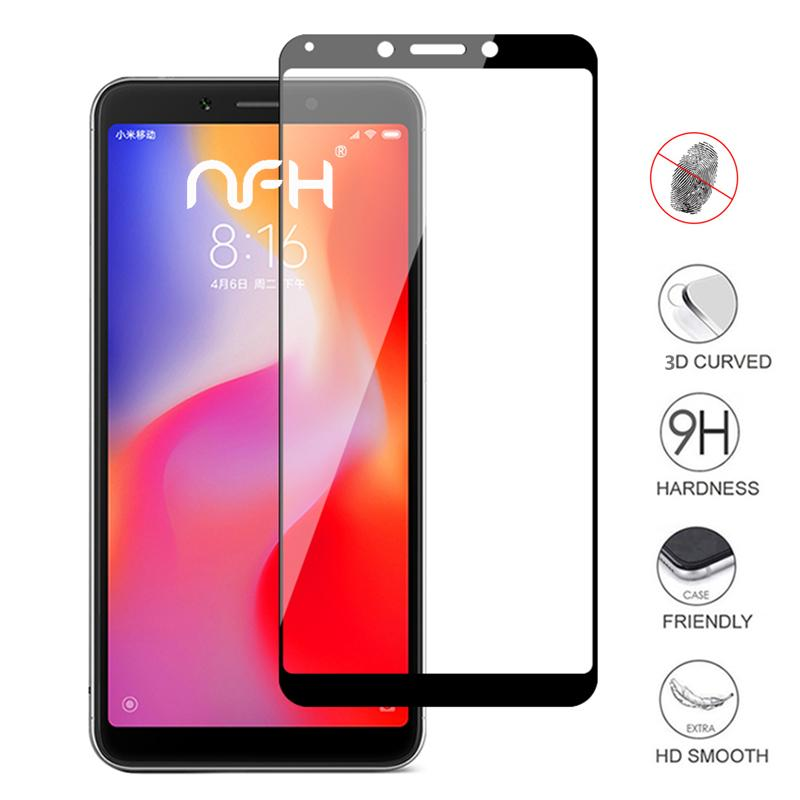 new arrival 227e9 07059 3D Full Cover Redmi 6A Screen Protective Tempered Glass For Xiaomi Redmi 6  6A 9H Hard Film Case On Redmi6 Protection Glass