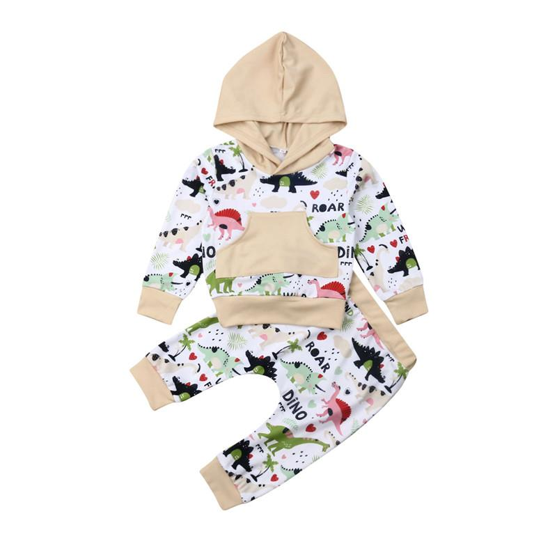 2pcs Toddler Kids Baby Boy Girl Clothes Set Print Hoodies Pants Leggings Outfits