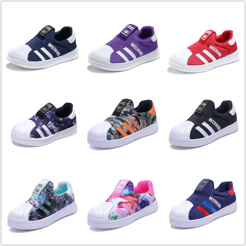 Fall New Shellfish boys shoe Girls casual net surface shoes Children's slip-on shoes kids canvas shoes