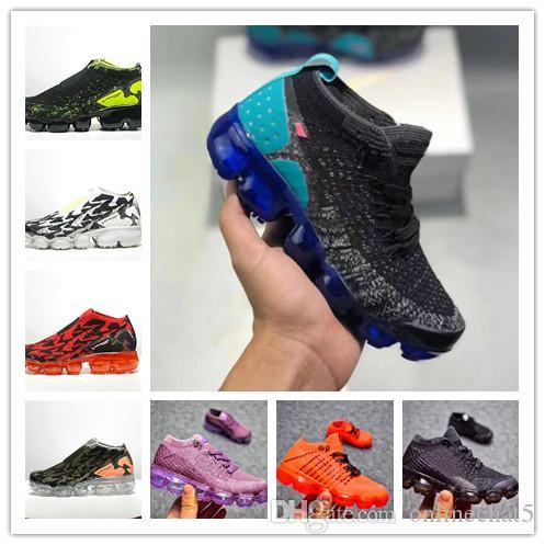 82ce0650c38 Acheter Nike Air Max VaporMax Enfants En Bas Âge 2018 Chaussures De Course  Enfants Athlétique Bébé Garçons Filles Enfants Chaussures Formation Sport  Enfants ...