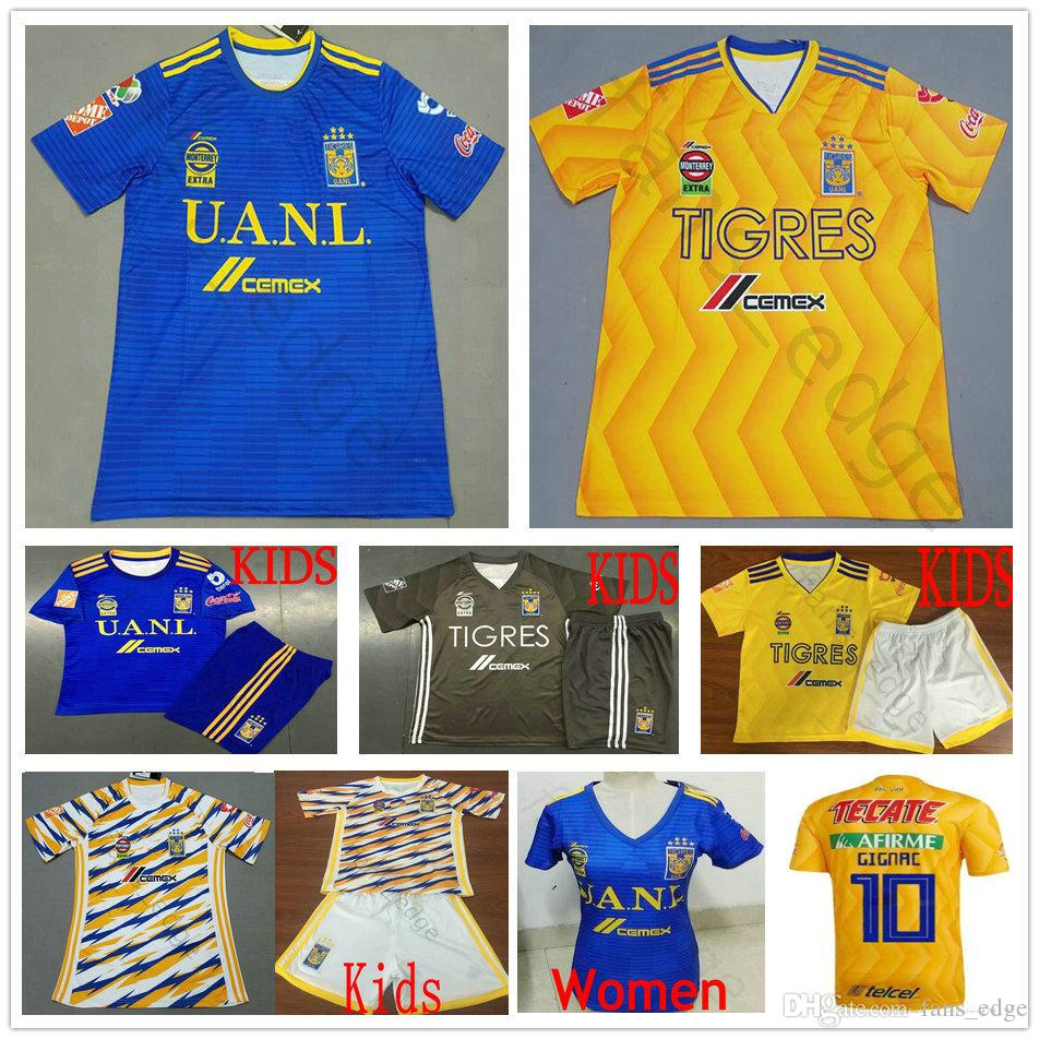 2999482b0 2019 2018 2019 MX League Football Club Tigres UANL Soccer Jerseys GIGNAC  GUERRON SOBIS DUENAS Custom Home Away Adult Kids Woman Football Shirt From  ...