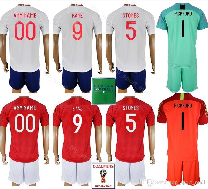 2019 2018 2019 Soccer 9 Harry Kane Jersey Men 5 John Stones 14 Danny  Welbeck Football Shirt Kits Uniform Custom Name Number Goalkeeper White  From ... 934894979
