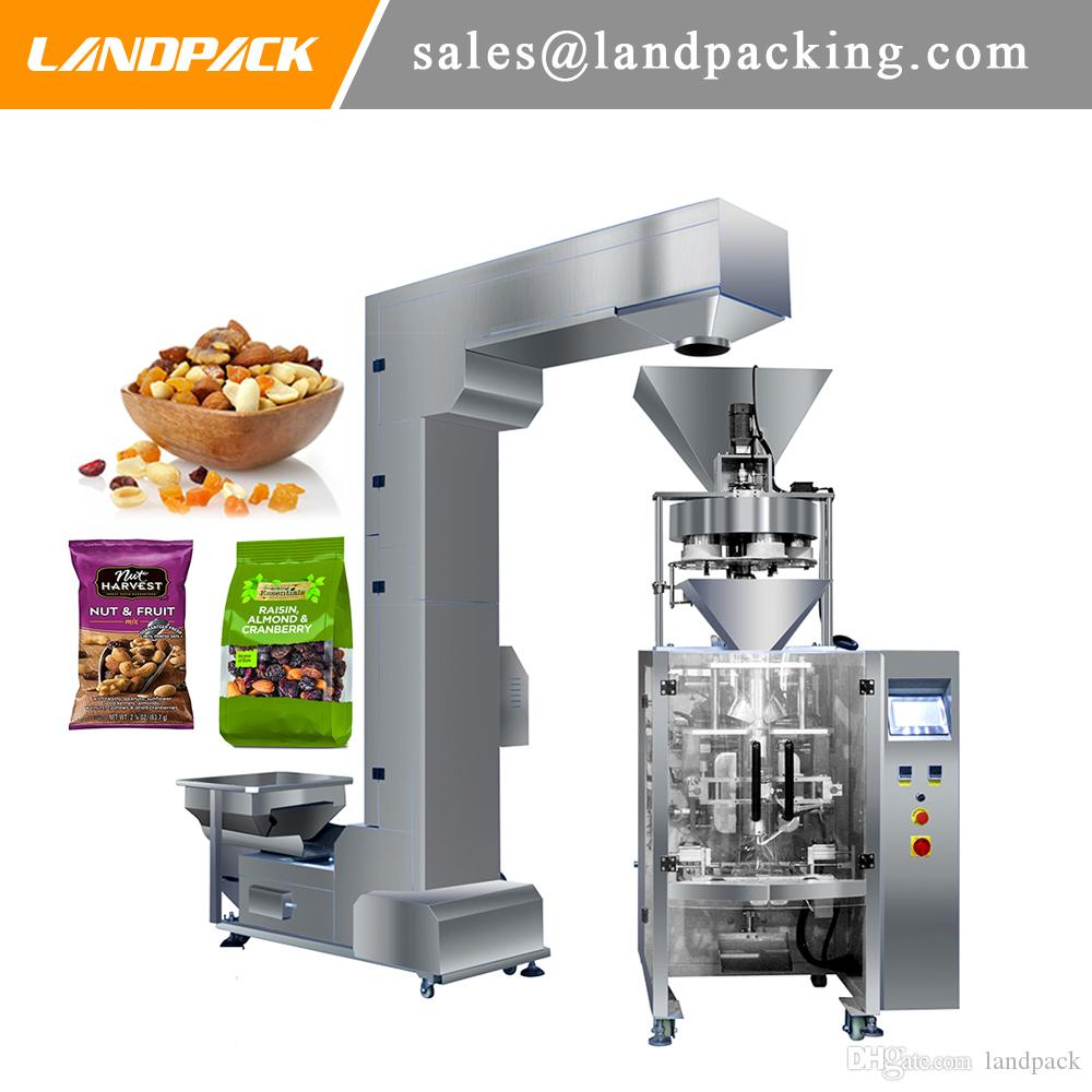 LANDPACK420 Vertical Grain Packing Machine for Raisin Preserved fruit Candied Wax berry Nuts Fruit Automatic Vertical Form Fill Seal Machine
