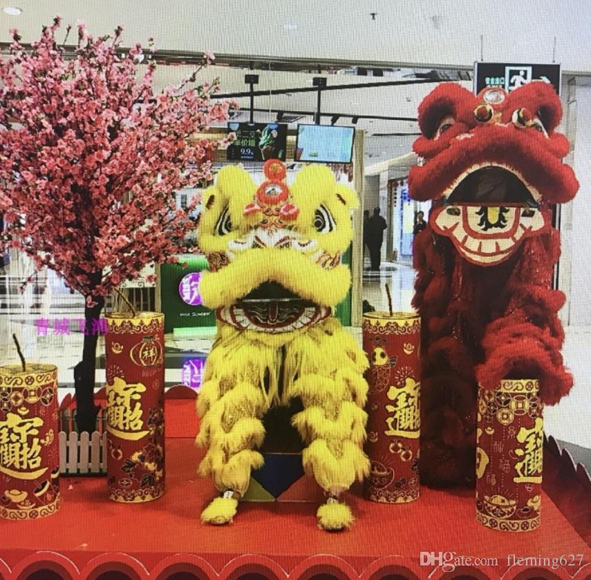 3a49aad2b 2019 Lion Dance Wool Costume Double Color Outfit China Southern Hongkong  Macao Foshan Hand Made Stage Accessories Lion Dance For Oversea Chinese  From ...
