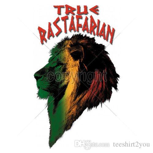 7d9a3e5864 True Rastafarian Rasta Lion Jamaica T-Shirt Tee T-Shirt Men Boy Vintage  Custom Short Sleeve Boyfriend's Big Size Couple Tee Shirts