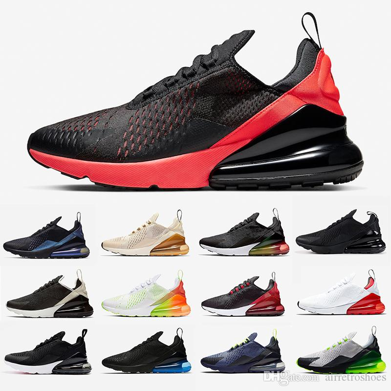 Nike Air max Bred 270 men women running shoes Platinum Tint Tiger Triple Black University Red Core White Hot Punch photo blue mens sports sneakers 36-45