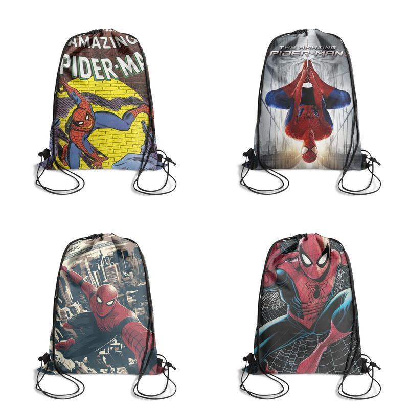 Walker spiderman justice posterFashion sack belt backpack, design retro best reusable string package, suitable for school poster The of