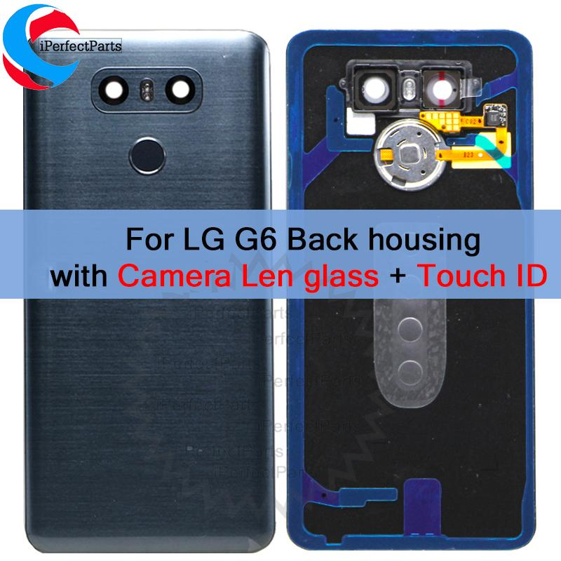 New Back Cover For LG G6 Back Glass Battery Cover LS993 US997 VS998 H870  H871 H872 H873 Rear Door Housing With Adhesive