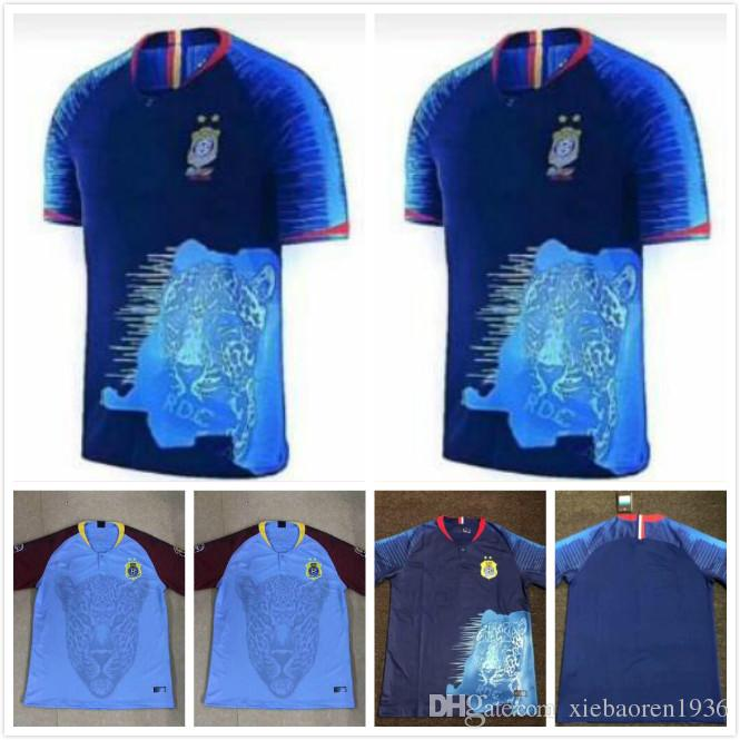 a079f0b93 2019 2019 Congo Soccer Jersey 19 20 Home Blue M. Nkounkou H. Lakolo J.  Makiese B. Obassi Soccer Shirt Congo National Team Football Uniform From ...