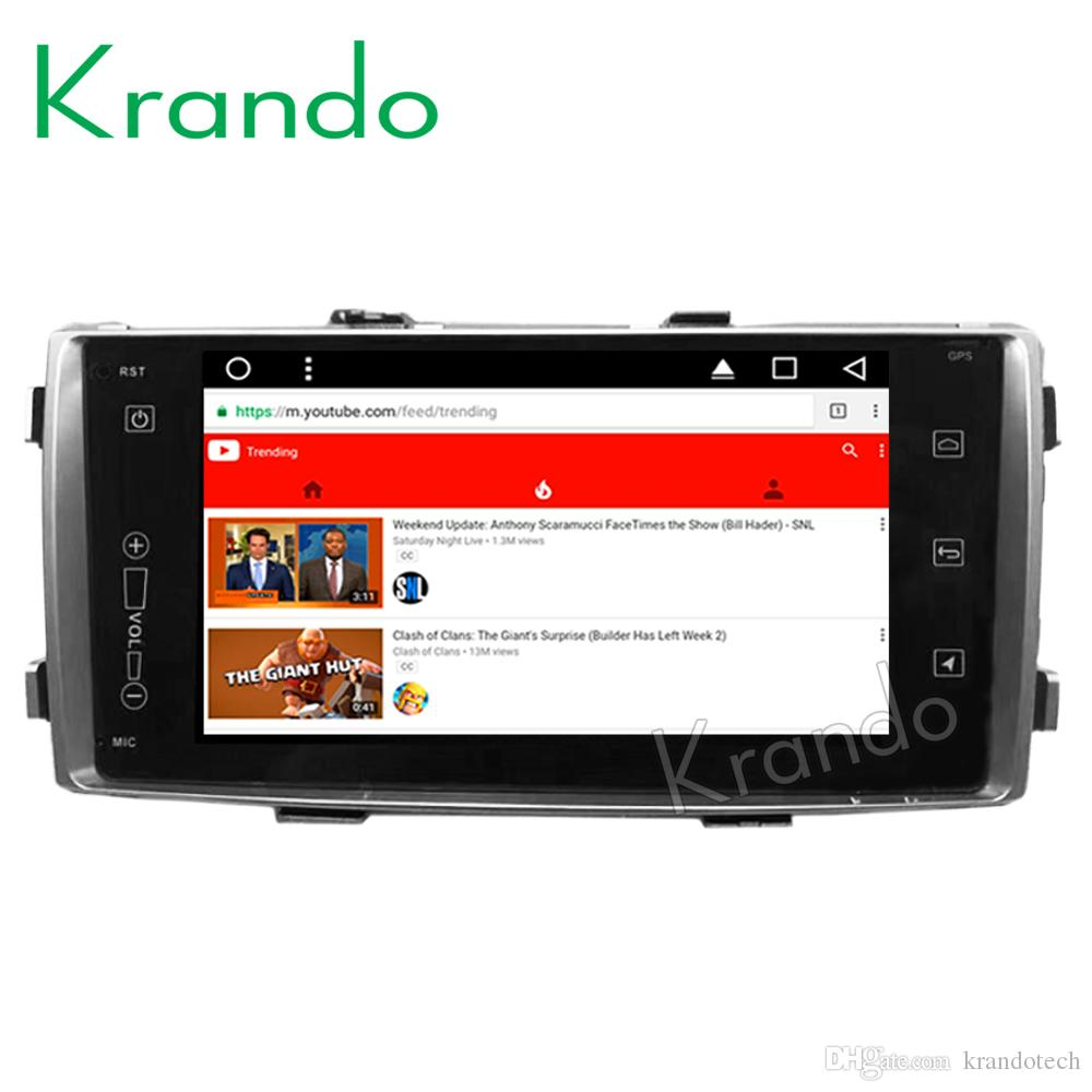 "Krando Android 8.1 7"" IPS Touch screen car Navigation system for Toyota Toyota Hilux 2012-2014 radio player gps multimedia wifi car dvd"