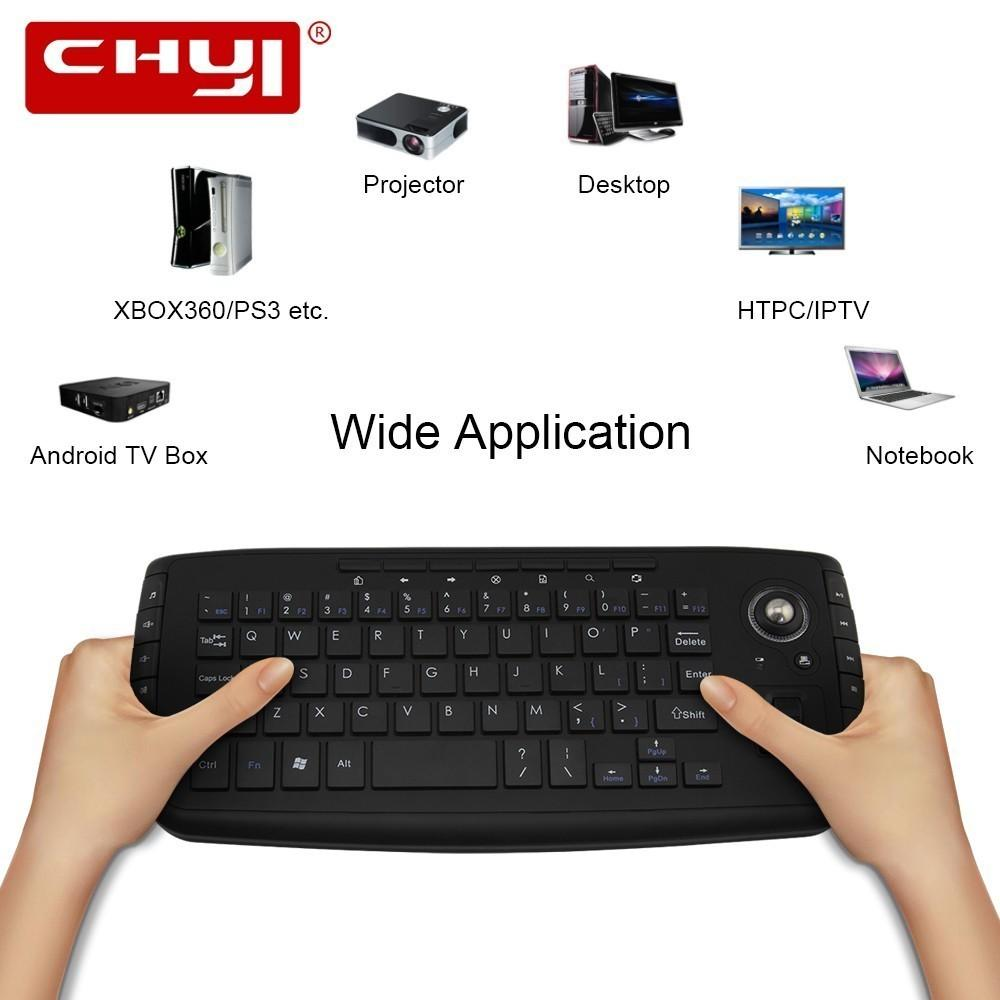966ff8a61bf CHYI 2.4G Wireless Trackball Keyboard Wireless Combo Mouse And Keyboard  Multifunctional Scroll Wheel Keyboards For Computer PC