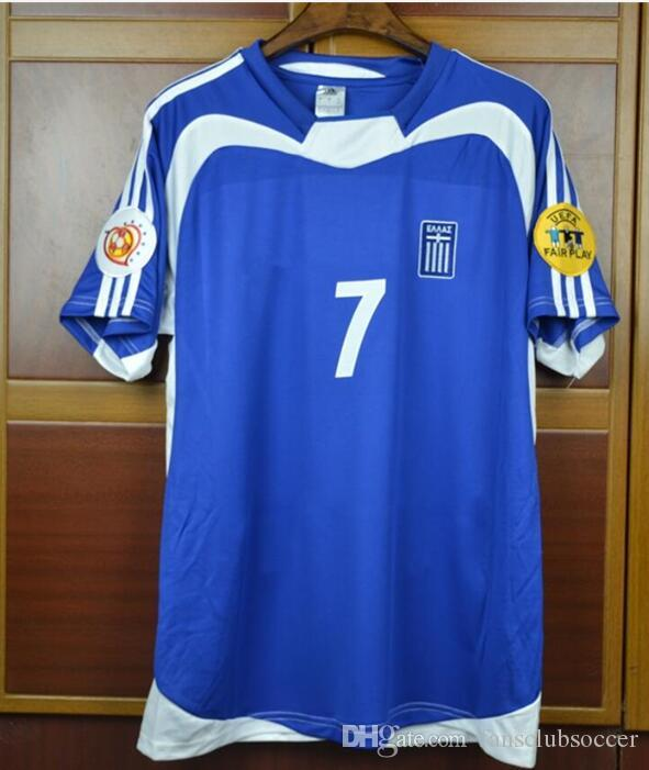 Compre Copa Do Euro 2004 Grécia Zagorakis Charisteas Vintage Retro Futebol  Jersey 04 Grécia Azul Branco Camisa De Futebol De Fansclubsoccer f0818c259122e