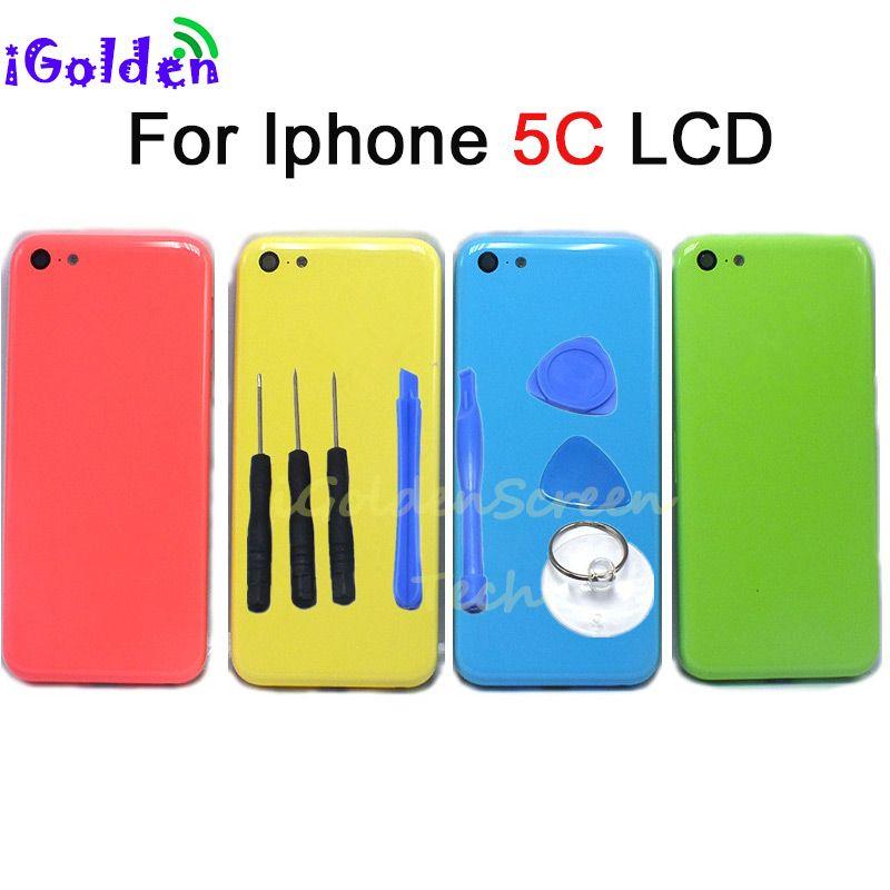 f52d5cc5d01 Repuestos Para Celulares Carcasa Completa Trasera 5c Para Apple IPhone 5C  Tapa Trasera De Batería Carcasa De Puerta Con Ensamblaje De Cable Flexible  ...