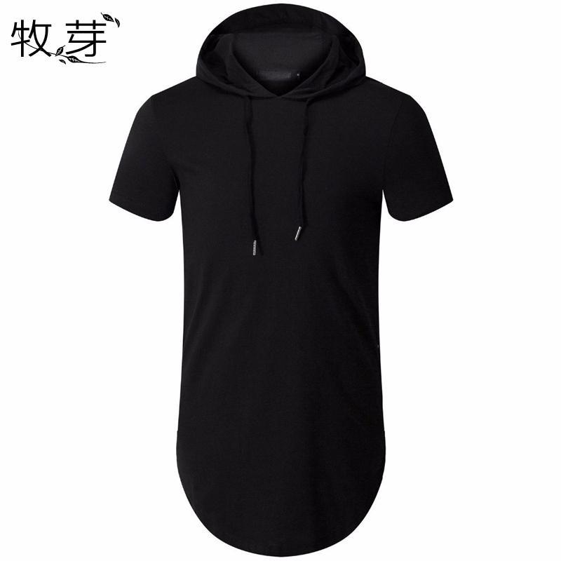 1d3b6549f New Arrived Men'S Hipster Hip Hop Short Sleeve Hoodie Side Zipper T Shirt  Men Short Sleeve Hoodies Hooded Design Long Hoodies Best Designer T Shirts  Funny ...