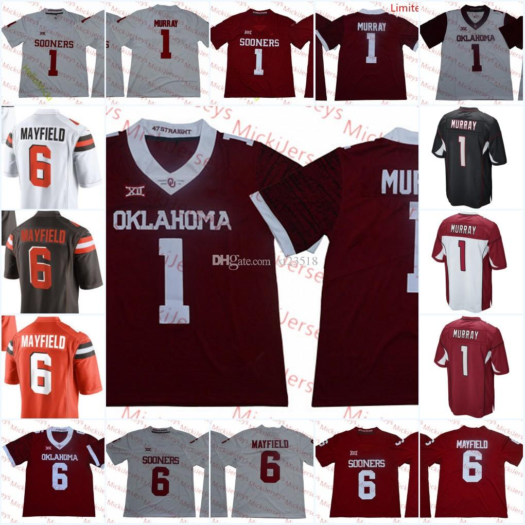 841ea85073c 2019 Mens NCAA Oklahoma Sooners Kyler Murray Football Jersey Stitched #1  Kyler Murray Arizona #6 Baker Mayfield Cleveland Jersey S 3X From Xt23518,  ...