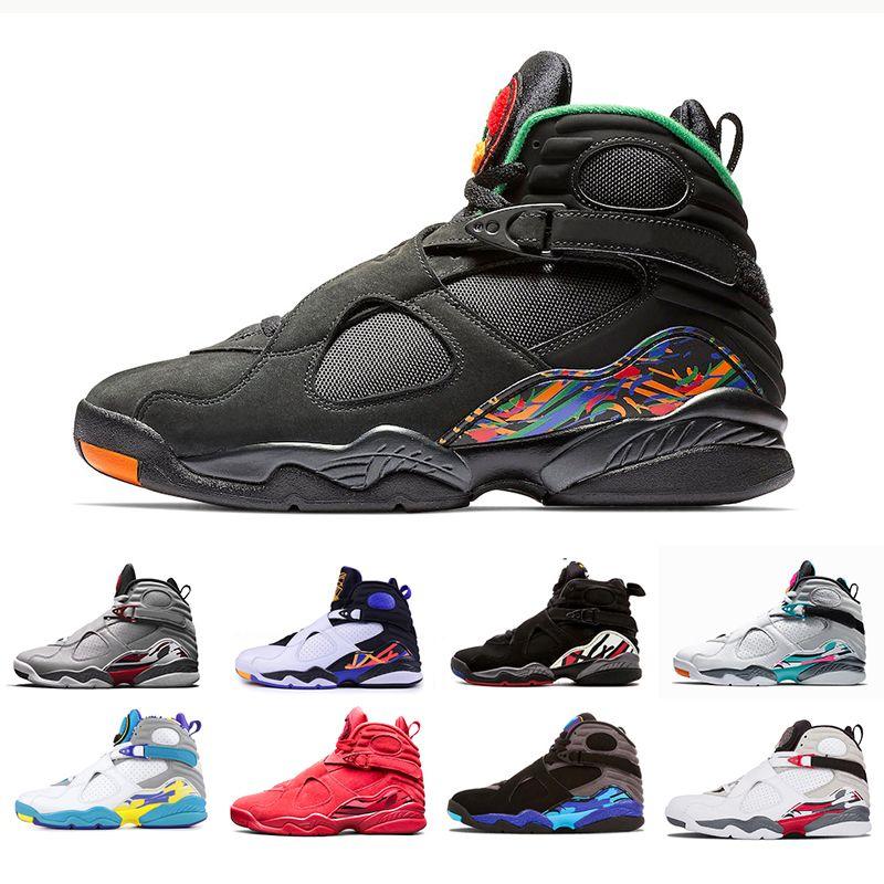 en soldes 55ba6 80cde 2019 Nike Air Jordan 8 South Beach Blanc Chaussures de basket-ball Aqua  Raid Red 8 VII 8s 3M réfléchissant la Saint-Valentin Chrome COUNTDOWN PACK  ...