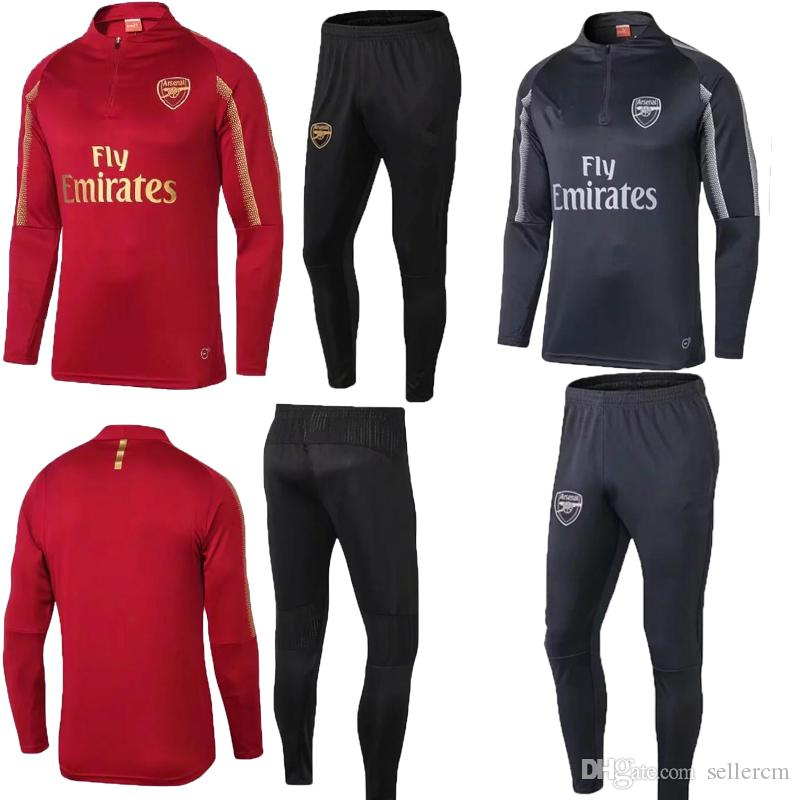 premium selection 52355 683b9 Arsenal football jersey training suit long-sleeved 3/4 pants sportswear  casual trousers 2018-New training suitTop quality