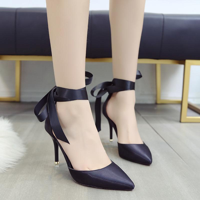 3e6d0e4209c63 Dress Shoes Lucyever Women Pumps Fashion Summer Sandals Pointed Toe High  Heels Party Woman Sexy Ladies Riband Wedding Pumps Stilettos Dansko Shoes  Tennis ...
