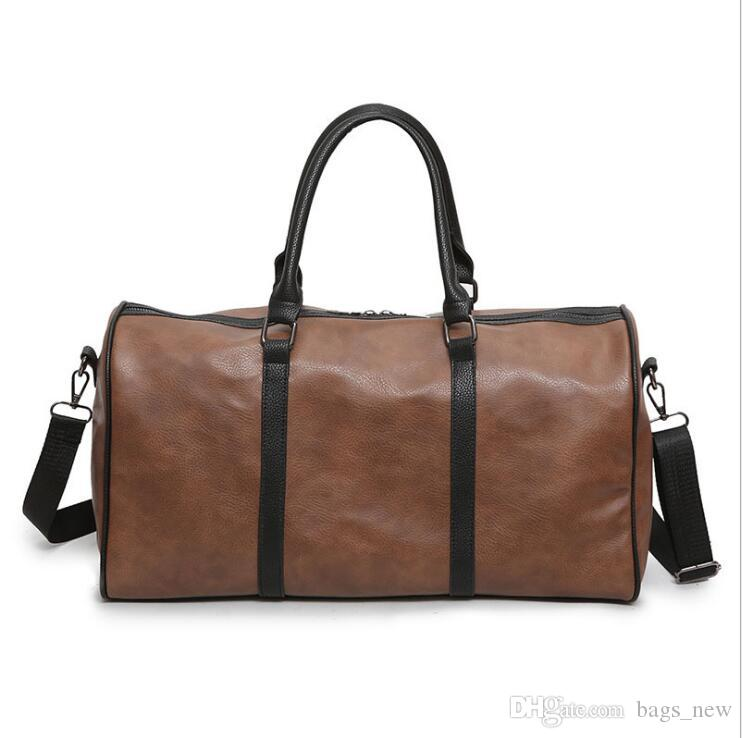 Fashion Leather Travel BagMen S Travel Bag Luggage Men Carry On Leather  Duffel Bag Weekend Bag Big Tote Handbag Black Overnight Bags For Women  Briefcases ... 459b9d6126a75