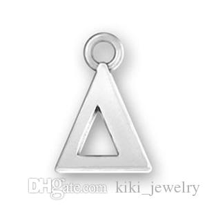 Myshape Silver Color Greek Letter Alphabet Charms Delta Sigma Theta Gamma Lambda Phi Pi Psi Omega Capital & Lowercase Fit for DIY Jewelry