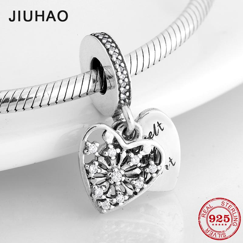 39814857a 2019 925 Sterling Silver Snowflake You Melt My Hearts Charms Family Form  Love Fit Original Pandora Charm Bracelet Jewelry Making 2018 From  Dushiwatch, ...