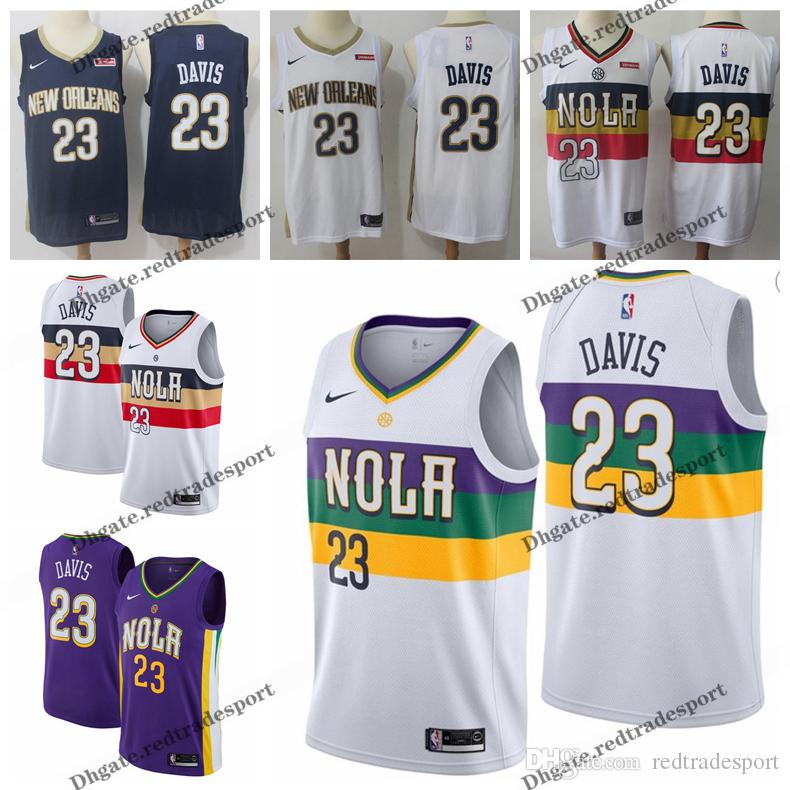 2019 Earned 23 New Orleans Anthony Davis Pelicans Edition Basketball Jerseys Cheap City Anthony Davis Edition Stitched Shirts S Xxl
