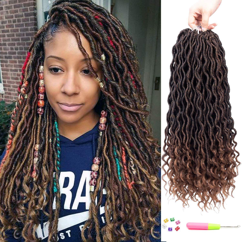 2019 Goddess Faux Locs Crochet Braids Pre Looped Crochet Hair Wavy