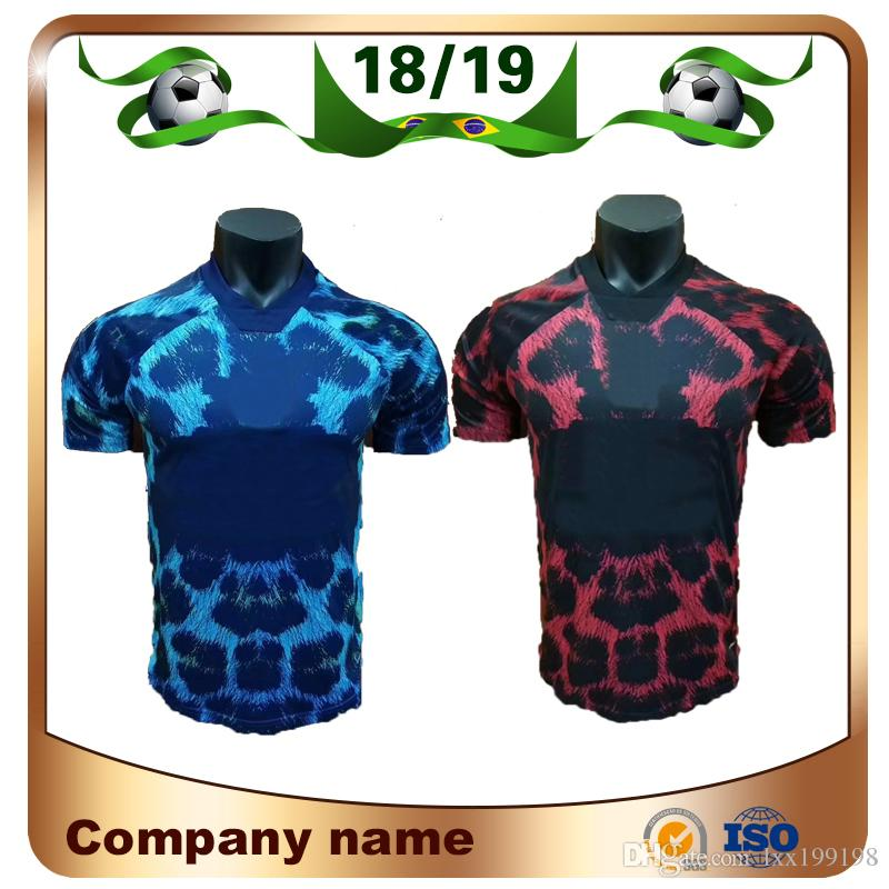 2019 POGBA Edición Limitada Camiseta De Fútbol 18 19 Rojo   10 RASHFORD EA  Camiseta De Fútbol Deportiva Estampado Leopardo Versión Especial Uniforme  Azul ... b2cb0edbcfd44