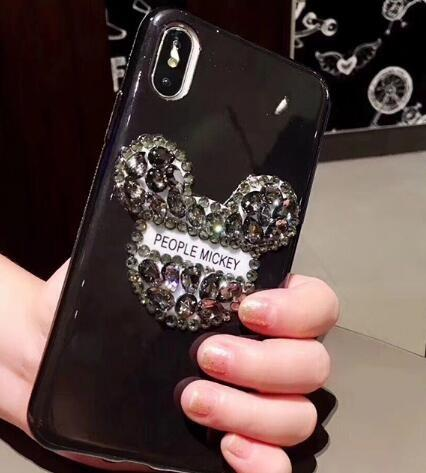 Premium Phone Cases for Apple iPhone 8 7 6S plus X 6S Case Luxury Cute Cartoon Bling Gillter Diamond Rhinestone phone cover shell