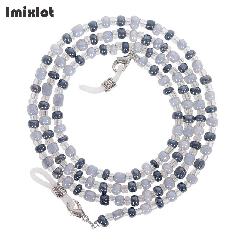 High-end Eyeglass Chain Colorful Glass Beads Chains Anti-slip Eyewear Cord Holder Sunglasses Lanyard Strap Reading Glasses Rope