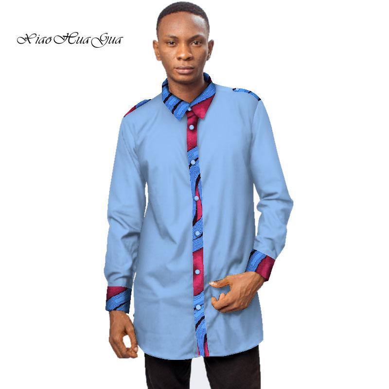 Großhandel Formelles Männliches Hemd Männer Hemd Langarm Dashiki  Afrikanischer Druck Männer Hemden Lange Herren Afrikanische Kleidung WYN541  Von Guchen3, ... 498a9241ff