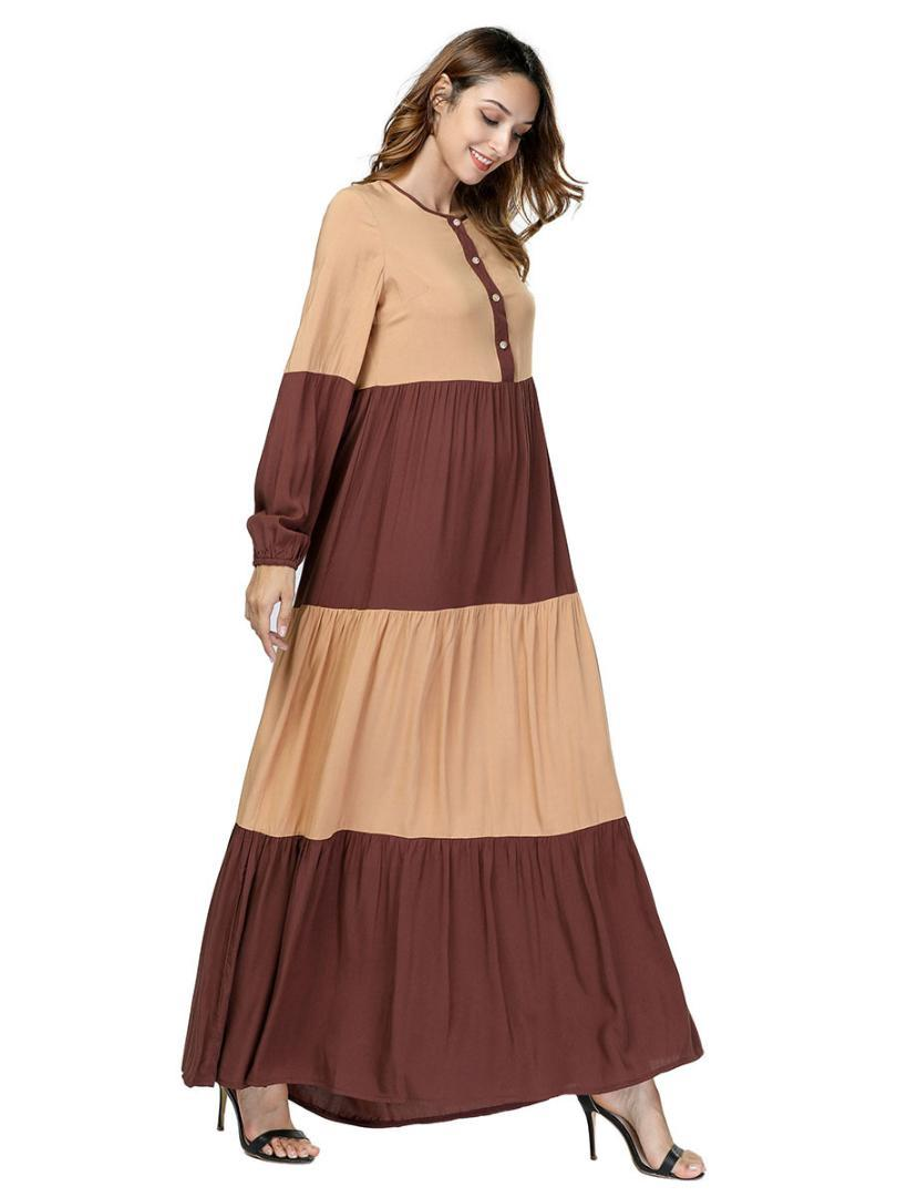f6a1ee67bc67 2019 Elegant Long Sleeve Maxi Dress Geometric Abaya Autumn Kimono Urban Long  Robe Gowns Loose Muslim Jubah Ramadan Islamic Clothing From Lichee666, ...