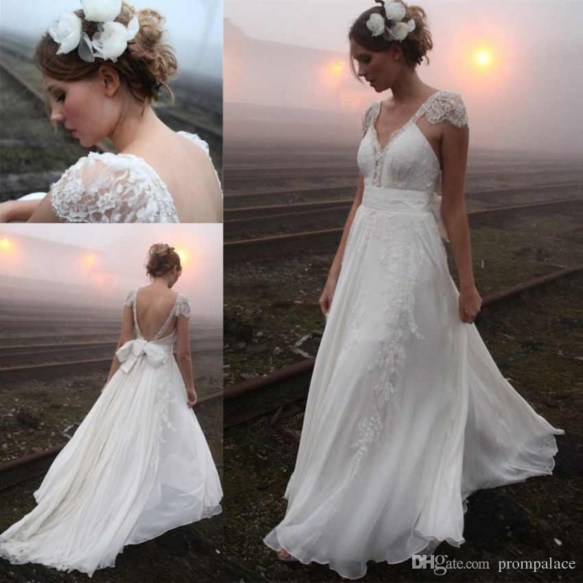 Discount Cheap Lace Plus Size Wedding Dresses With Capped Sleeves ...