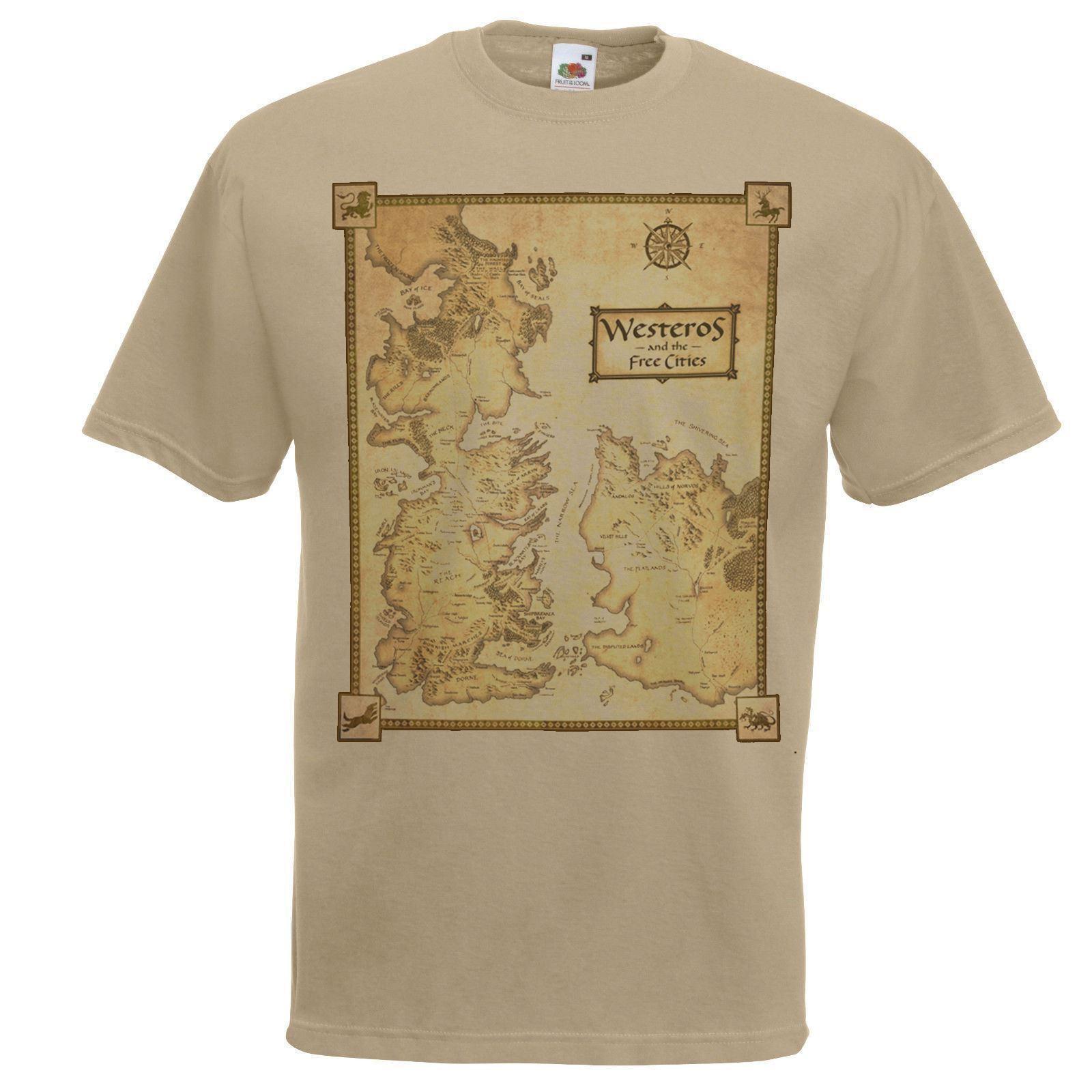 Mens Khaki Westeros Map T-Shirt Game of Thrones Geography T Shirt Funny on game of thrones pokemon shirt, game of thrones stark shirt, game of thrones school shirt, united states map shirt, africa map shirt, game of thrones beer bottles, fargo map shirt, game of thrones table book, westeros map shirt,