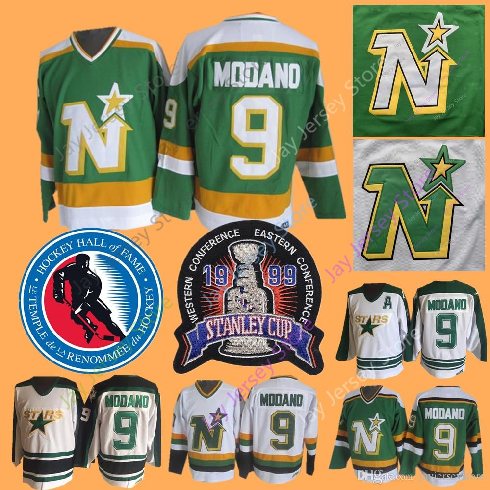 free shipping c2e07 84be5 Mike Modano Jersey 1999 Stanley Cup 2014 Hall Of Fame Dallas Stars  Minnesota North Stars Jerseys Ice Hockey Green CCM Vintage