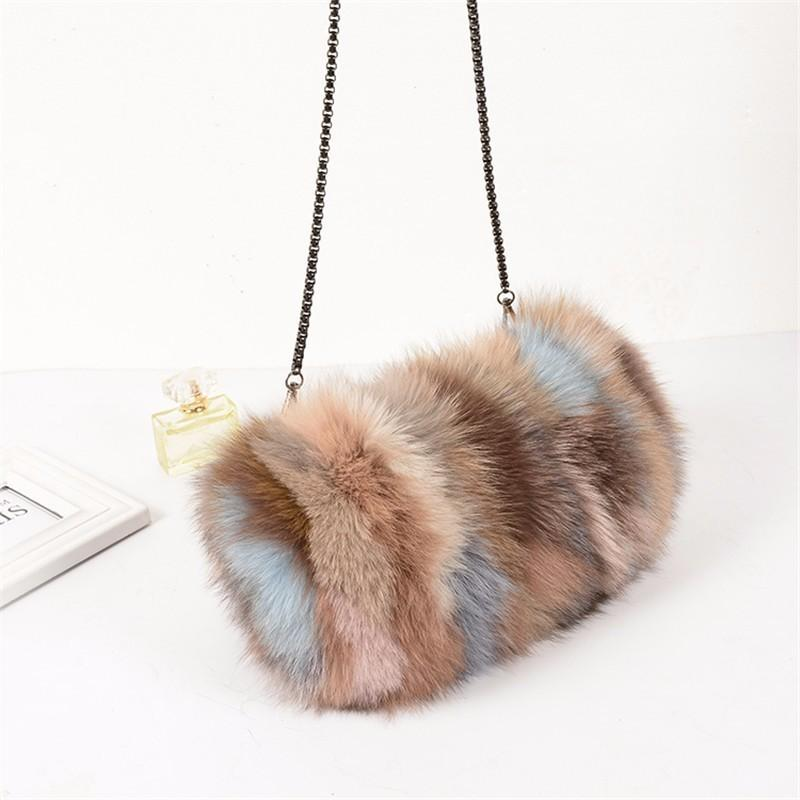Fashion Designer Real Fox Fur Women Messenger Bag Winter New Women Chain  Shoulder Bag Luxury Fur Handbag Large Lady Clutch Ladies Handbags Leather  Handbags ... 71d92d80922c2