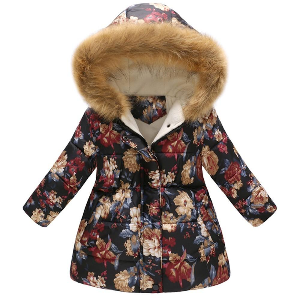 55fcb97b7bae Good Quality Baby Down Jacket Girls Boys Coat Winter Floral Thick ...