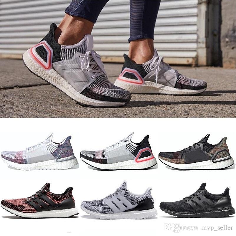 2019 de alta calidad Ultraboost 19 3.0 4.0 zapatillas de correr hombres mujeres Ultra Boost 5.0 funciona blanco negro zapatillas de deporte de