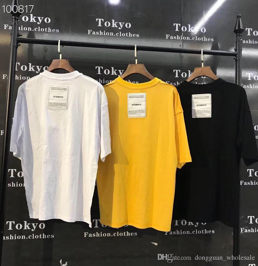 4b65693b 19ss Vetements Men Women T Shirt Streetwear Oversize Harajuku TShirt Color  Cartoon Billie Eilish Vetements Men Tshirt T Shirt Makes Shirts T From ...