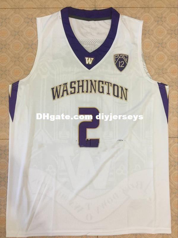 official photos 32045 e5162 #2 Isaiah Thomas #3 Brandon Roy College Basketball Jersey Custom Any Name  and Number Retro Top Cheap menswear XS-6XL Vest Jerseys NCAA