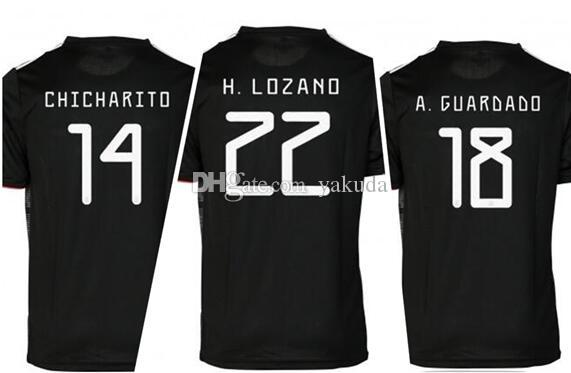 87ac1c0e1 2019 Customized Thailand Quality Mexico 19 20 14 J.Hernandez Thai Quality Soccer  Jersey
