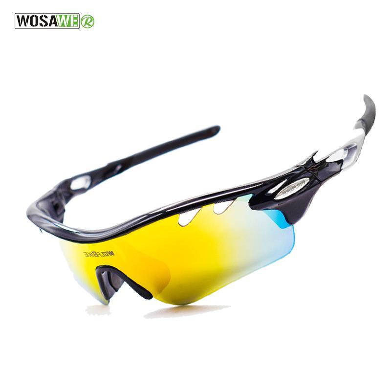 13c960bfae69c Compre Wosawe Polarizada Ciclismo Óculos De Bicicleta Ao Ar Livre Esportes  Bicicleta Óculos De Sol Para Mulheres Dos Homens Óculos De Armação De Óculos  5 ...