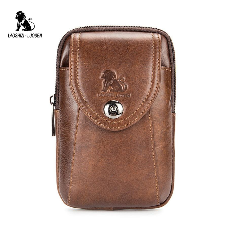 2b12c355bf4a Cow Leather Belt Pouch Belt Bag Men For Mobile Phone Genuine Leather Waist  Bag For Men Fanny Packs Portable Mobile Phone Storage Messenger Bags For  Women ...