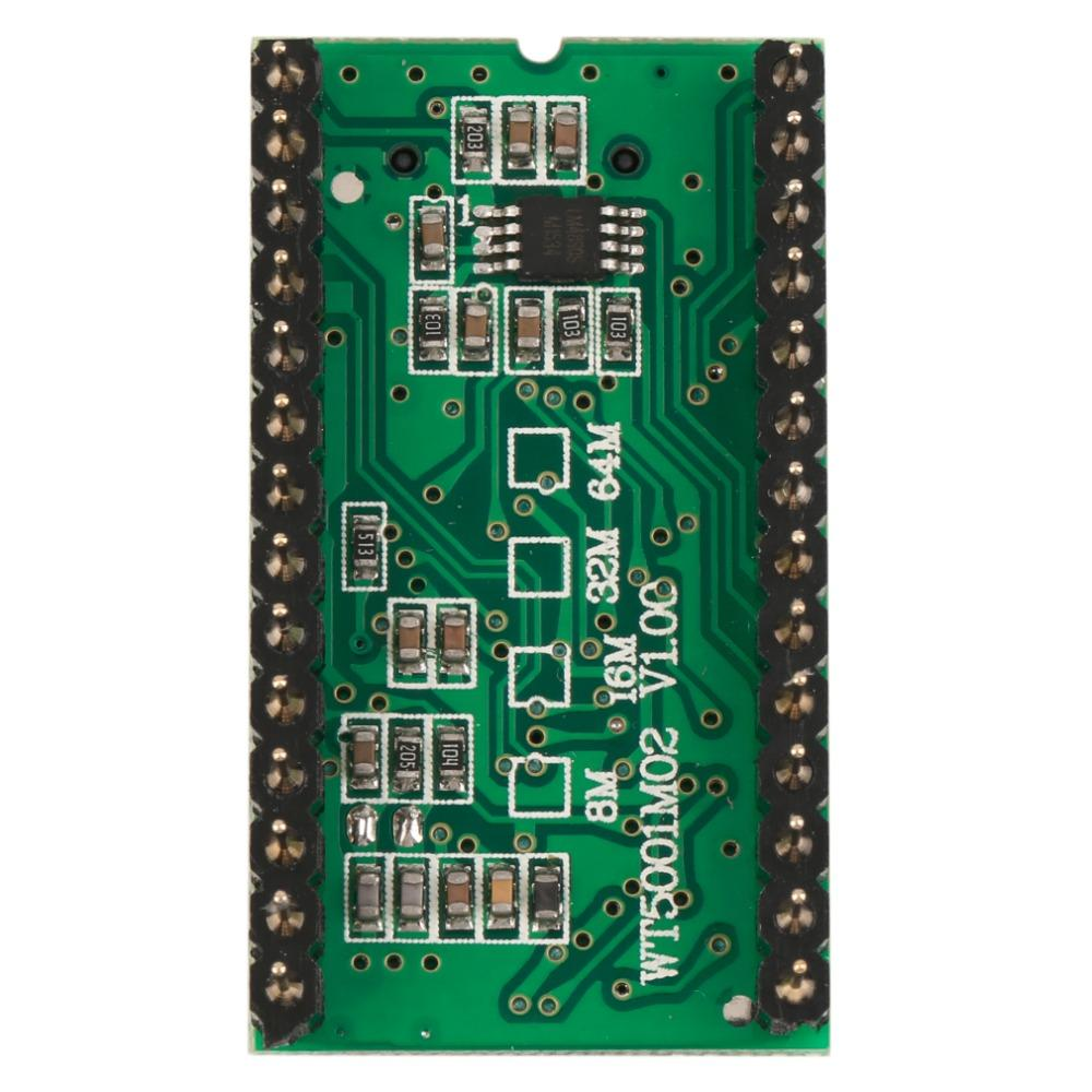 Freeshipping High Quality Sound Module WT5001M02-28P U-disk Audio Player  Card Voice Module MP3 Sound For Arduino Green
