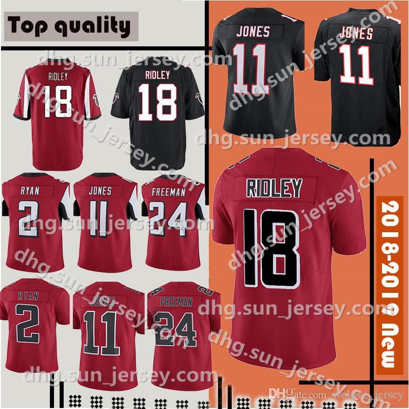 new product 1ef95 6d323 Men's Atlanta 18 Ridley 11 Julio Jones 2 Matt Ryan jersey 24 Devonta  Freeman 21 Deion Sanders Jersey Stitched Limited jerseys