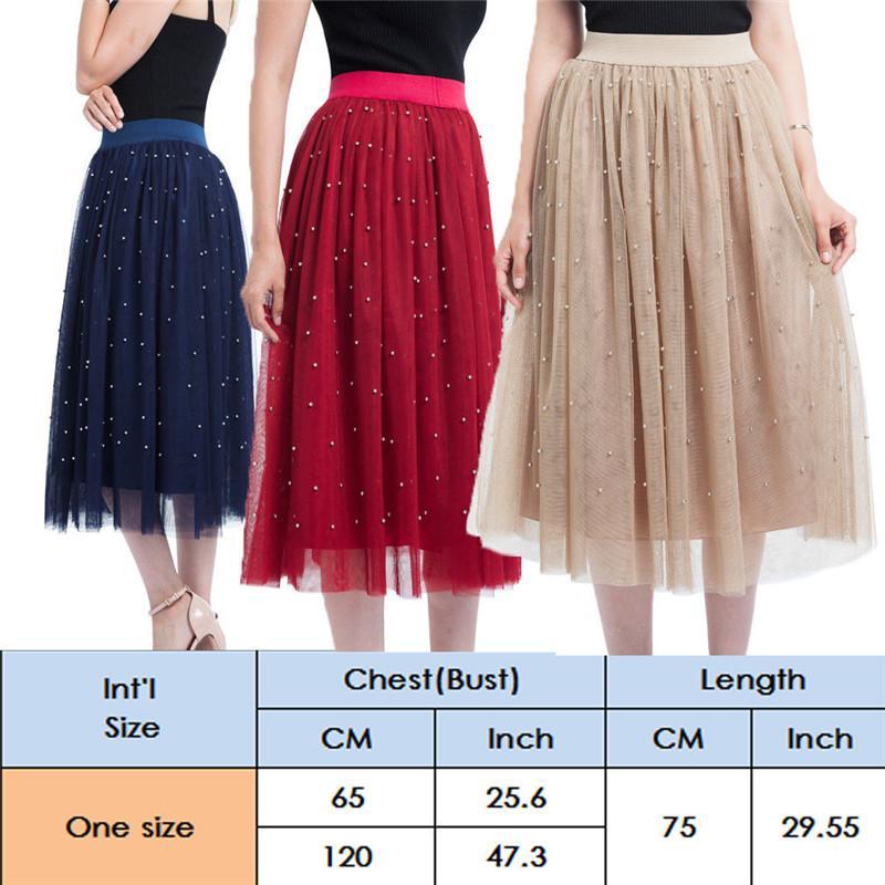 Новые женщины 3 слоя тюль пачка дамы плиссированные миди юбка высокая талия нижняя юбка нижняя юбка свадебная одежда