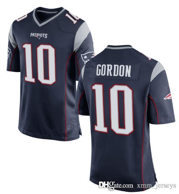 4de24e2c5 2019 New Patriots 10 Josh Gordon Jersey 12 Tom Brady 87 Rob Gronkowski 11  Julian Edelman 15 Chris Hogan Football Jerseys From Xmm jerseys
